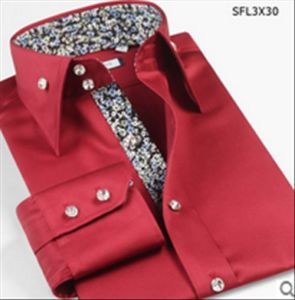 Fashion Fancy Men′s Red Joint Cotton Dress Shirt pictures & photos