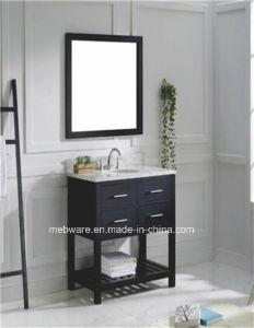Modern Single Sink Solid Wood Bathroom Vanity pictures & photos