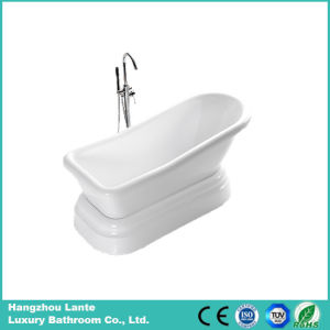 High Quality Bright White Classic Acrylic Bath Tub (LT-12T) pictures & photos
