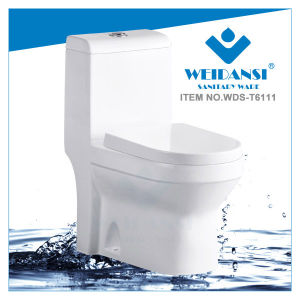 Weidansi Ceramic Wash Down S-Trap One Piece Toilet (WDS-T6111)