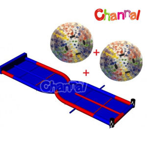 Human Hamster Ball Inflatable Zorb Ball Game with Two Lane Race pictures & photos