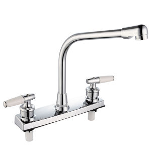 Double Handle ABS Kitchen Faucet pictures & photos
