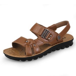 High Quality China Wholesale Man Genuine Leather Casual Sandal (WH0001)