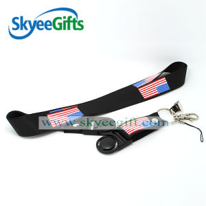 Various Styles Cheapest Security Guard Whistle Lanyard with USA Flag pictures & photos