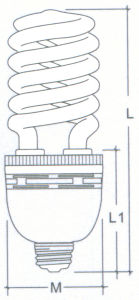 85W Half Spiral Energy Saving Lamp with CE (BNF17-HS-B) pictures & photos