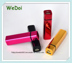 Promotional 2000mAh Elegant Lip Stick Shaped Power Bank (WY-PB75) pictures & photos