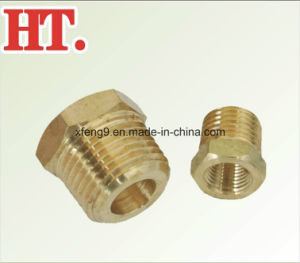 Hex Brass Machined Male and Female Threaded Reducing Pipe Bushing Fitting pictures & photos
