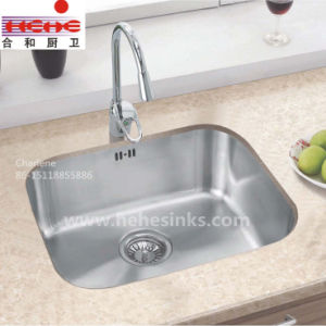18 Gauge Single Bowl Stainless Steel Kitchen Sink (6348A) pictures & photos