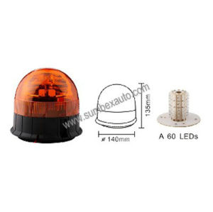 ECE R10 R65 360 Revolving Flash Magnetic Amber Warning Beacon LED Strobe Light (SM808HA)