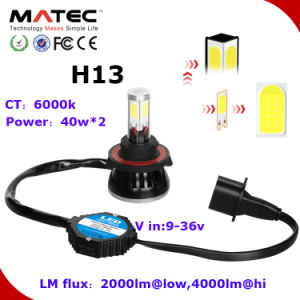 LED Car Headlight Kit 40W 4000lm H13 Auto Lamp pictures & photos
