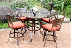 5PC Classic High Dining Cast Aluminum Patio Furniture pictures & photos