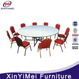 Hotel Modern Folded Round Wooden Banquet Table pictures & photos