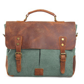 Redswan Real Leather Washed Canvas Fabric Man Handbag (RS-6807) pictures & photos