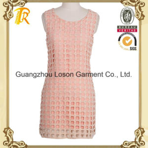 Womem Fashion Clothes Ladies Dress with Lace Outside