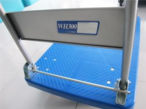 300kgs Plastic Platform Trolley High Quality Pallet Hand Truck with PVC Wheels pictures & photos