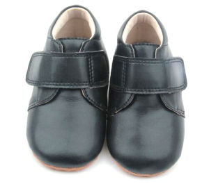 Nappy Leather Soft Toddler Walking Baby Shoes Hook & Loop Baby Boy Shoes