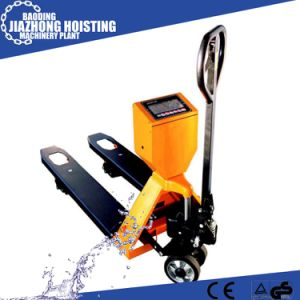 Hand Pallet Truck with Scale 1 Ton pictures & photos