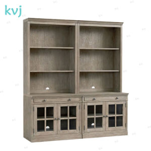 Kvj-7543 Study Room Solid Wood Oak Standing Book Case pictures & photos