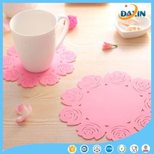 Hollow Pattern Rose Silicone Cup Pad pictures & photos