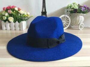 Fashion Wool Felt Mens Cowboy Hat with Leather Sweatband pictures & photos