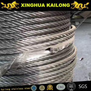 Dia. 2.5mm; 7X7-Stainless Steel Wire Rope; AISI 316; pictures & photos