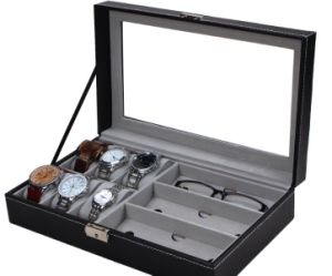 Watch Box Glass Box Jewelry Box Leather Box for Storage and Display pictures & photos