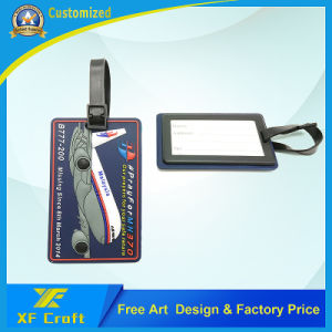 Mass Production Mh130 Airplane PVC Rubber Luggage Tags Label for Souvenir (XF-LT03) pictures & photos