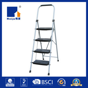 Grey Paint Steel 4 Step Ladder pictures & photos