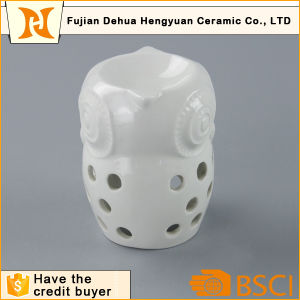 White Ceramic Owl Wax Incense Burner pictures & photos