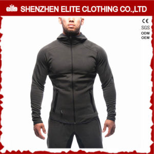 Slim Fit Gym Blank Waterproof Zipper Bodybuilding Hoodie for Men (ELTHSJ-1070) pictures & photos