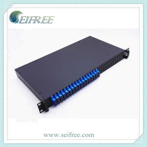 "2X32 PLC Splitter (19"" Rack 1U, SC/UPC duplex adapters) pictures & photos"