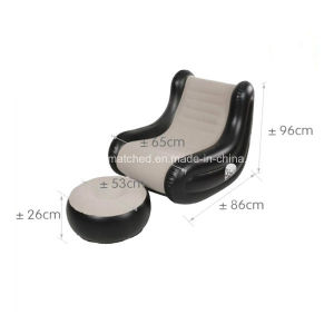 Modern Flocking Inflatable Lounger Chair Stool Sofa pictures & photos