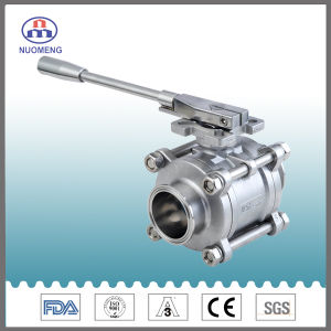Sanitary Stainless Steel 3PCS Clamped Ball Valve with DIN Standard pictures & photos