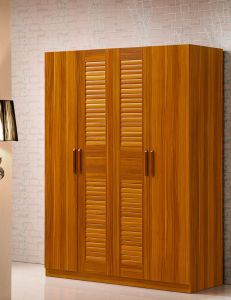 4 Doors Wardrobe Solid Wood Bedroom Wardrobe with Cloths Rack pictures & photos