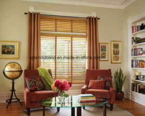 Wooden Blind Window Blind Zebra Blinds Roller Blind Fabric (SGD-Blind-1069) pictures & photos