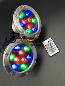 AC12V 9W RGB LED Underwater Light in Color Change with Remote Controller pictures & photos