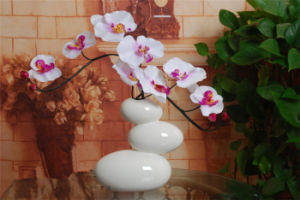 Creative Ice Crackle Glazed Three Stones Overlay Shape Ceramic Vase Tabletop Flower Vase Ornmaments Creative Vase Without Flower pictures & photos