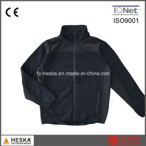 Fleece Coarse Needle Polyester Mens Knitted Bodkin Jacket pictures & photos