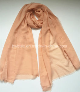 2017 Top Selling Dyed Plain Color Viscose / Polyester Scarf (HMK024) pictures & photos