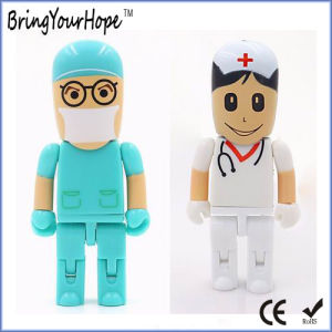 Hospital Doctor Shape USB Pen Drive in Robot Style (XH-USB-147) pictures & photos