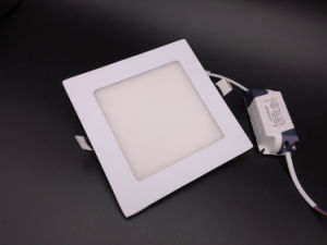 Recessed Mounted 3W 4W 6W 9W Epistar 90-100lm/W Square LED Panel Light pictures & photos