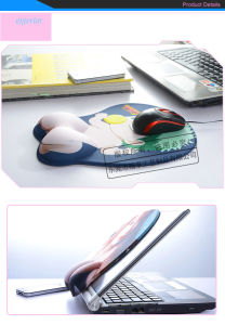 Custom 3D Annime Mouse Pad with Wrist Rest pictures & photos