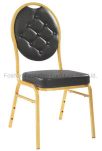 Wholesale Gold restaurant Dining Chair for Wedding Party with PU Leather pictures & photos
