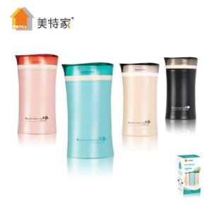 Metka Household Plastic Mug Two-Layer Heatproof Water Cup 320ml pictures & photos