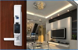 Zinc Alloy Electric Digital Smart RFID Fingerprint Security Door Lock pictures & photos