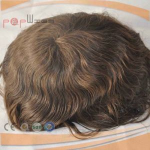 100% Brazilian Hair Dark Brwon Color Toupee for Men (PPG-l-0221) pictures & photos