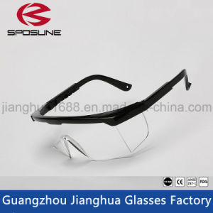 Black Frame Trendy Glasses Clear HD Vision Safety Work Glasses Painting Printing Anti-Splash Goggles Against Radiation pictures & photos