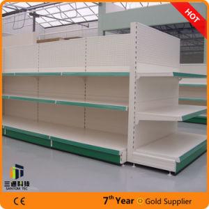 Perforated Panel Metal Supermarket Shelf/Supermarket Gondola Shelf pictures & photos