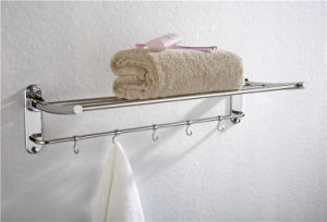 Hot Selling High Quality Stainless Steel Bathroom Towel Rack with Hook pictures & photos
