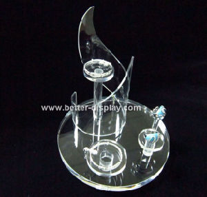 Factory Supply Acrylic Countertop Rotating Jewelry Display Stand pictures & photos